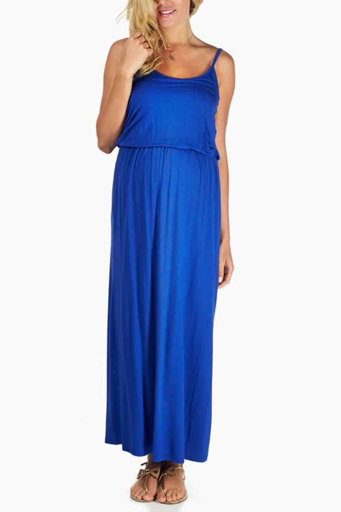 Maternity Blue Maxi