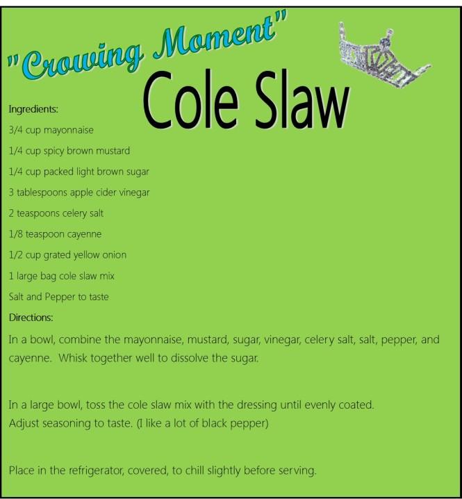Cole Slaw Recipe Card