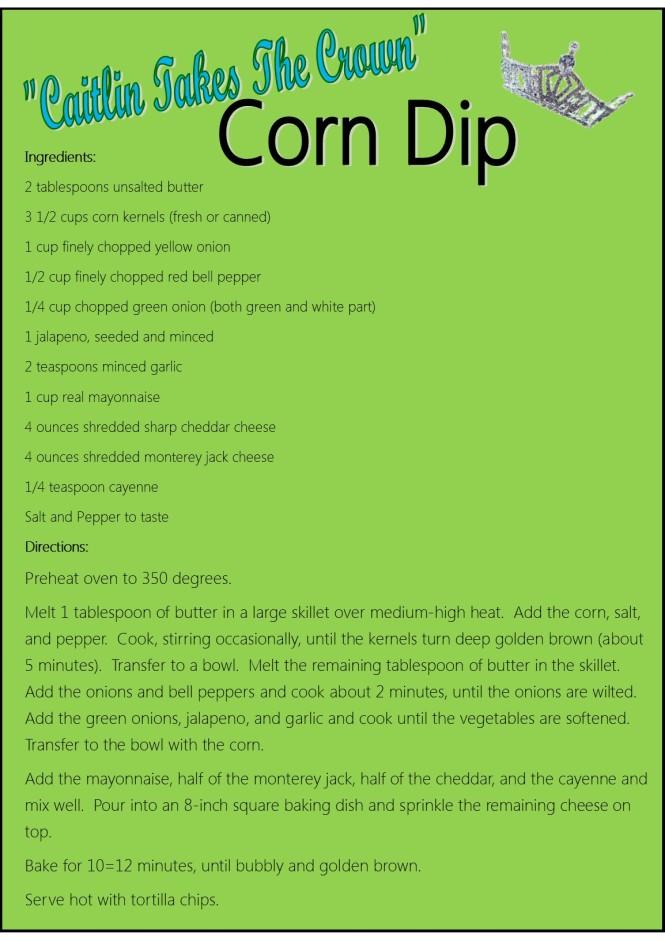 Corn Dip Recipe Card