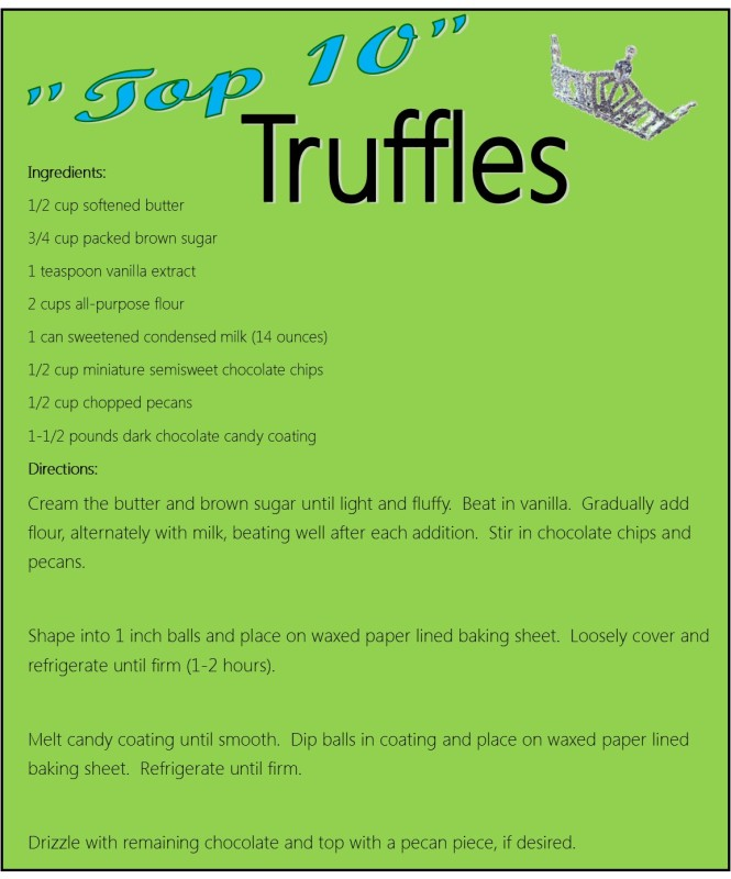 Truffle Recipe Card