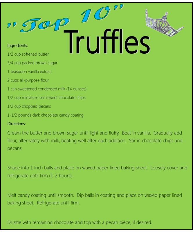 Truffle Recipe Card