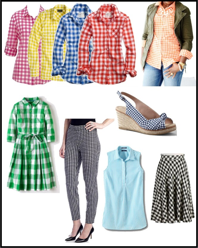 gingham pieces